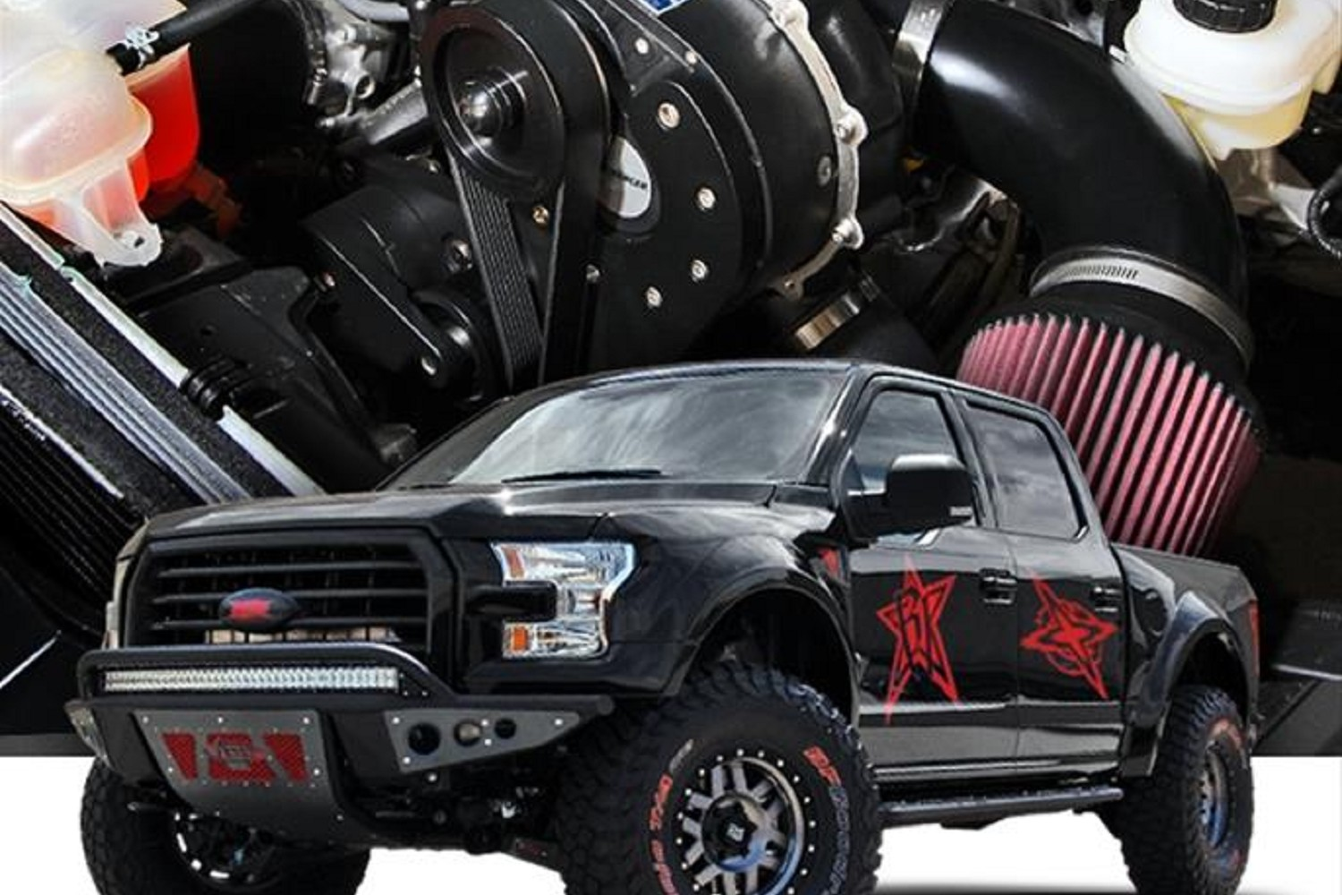 Procharger Stage 2 High Output Intercooled System with P-1SC-1 Supercharger  for 2015-2017 F150 5 0L