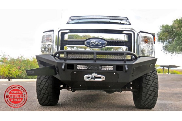 Addictive Desert Designs F-250/F-350 HoneyBadger Winch Front Bumper w/ Storage Boxes (2011-2016)