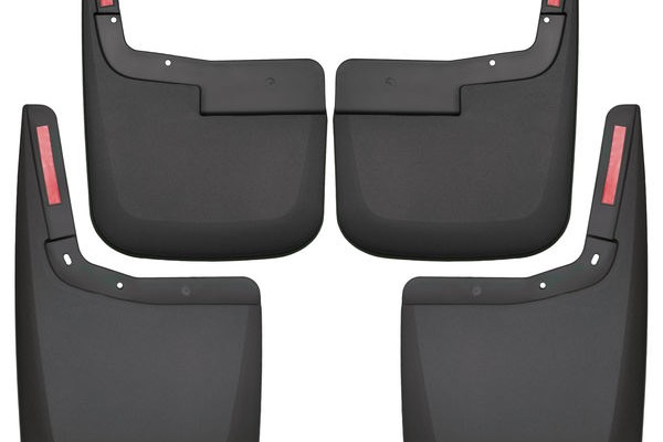 Husky Liners Front & Rear Mud Guards F-150 w/o OE Fender Flares (2015-2017) - Black