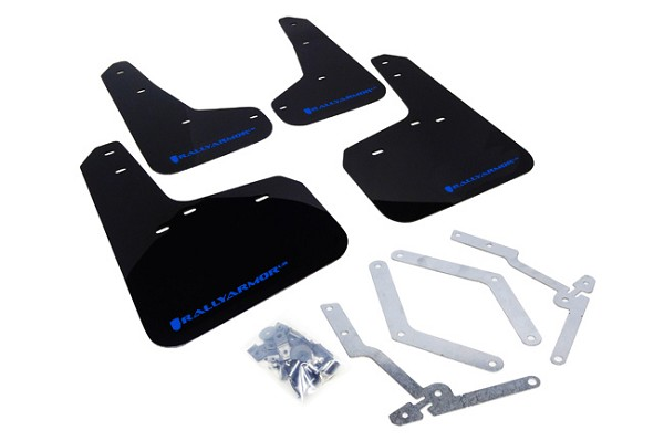 Rally Armor Mud Flap Set Black/Blue Logo Focus ST 2013-2018 / Focus RS 2016-2018