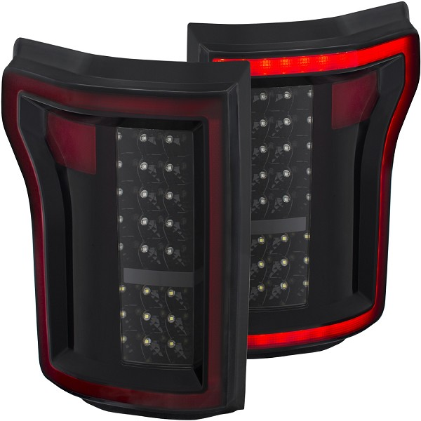ANZO F-150 LED Taillights GEN 1 - Black (2015-2016)