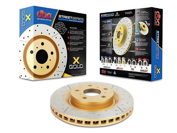 DBA Mustang Base/EcoBoost/PP/GT Street Series Drilled & Slotted Front Rotor (2015-2020)