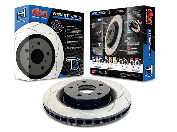 DBA Mustang Street Series T2 Slotted Front Rotor (15-17 EcoBoost PP/GT)