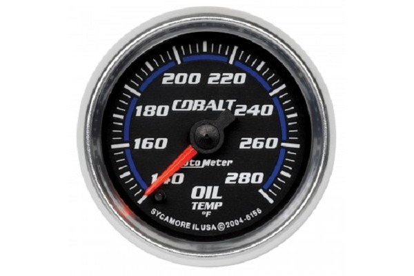 "Autometer Cobalt Electric 2-1/16"" Oil Temperature Gauge"