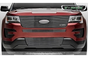 T-Rex Ford Explorer - Laser Billet Series - Replacement - Main Grille w/ Logo Recess -Polished (2016-2017)