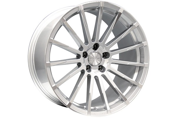 Ace Alloy Devotion Metallic Silver Machined Wheel 20x10 (05-19)