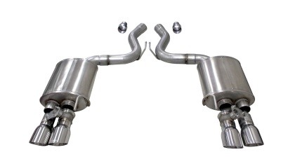 "Corsa Ford Mustang GT Fastback 5.0L 3"" Sport Axle-Back Exhaust w/ 4"" Polished Tips (2018-2020)"