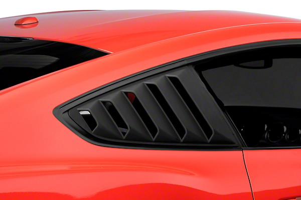 DefenderWorx S550 Ford Mustang Rear Quarter Window Louvers (2015 All)