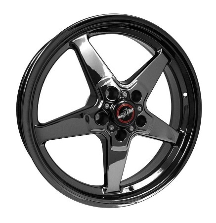 Race Star S197/S550 Mustang 18x5 92 Black Chrome Drag Star Wheel (2005-2020)