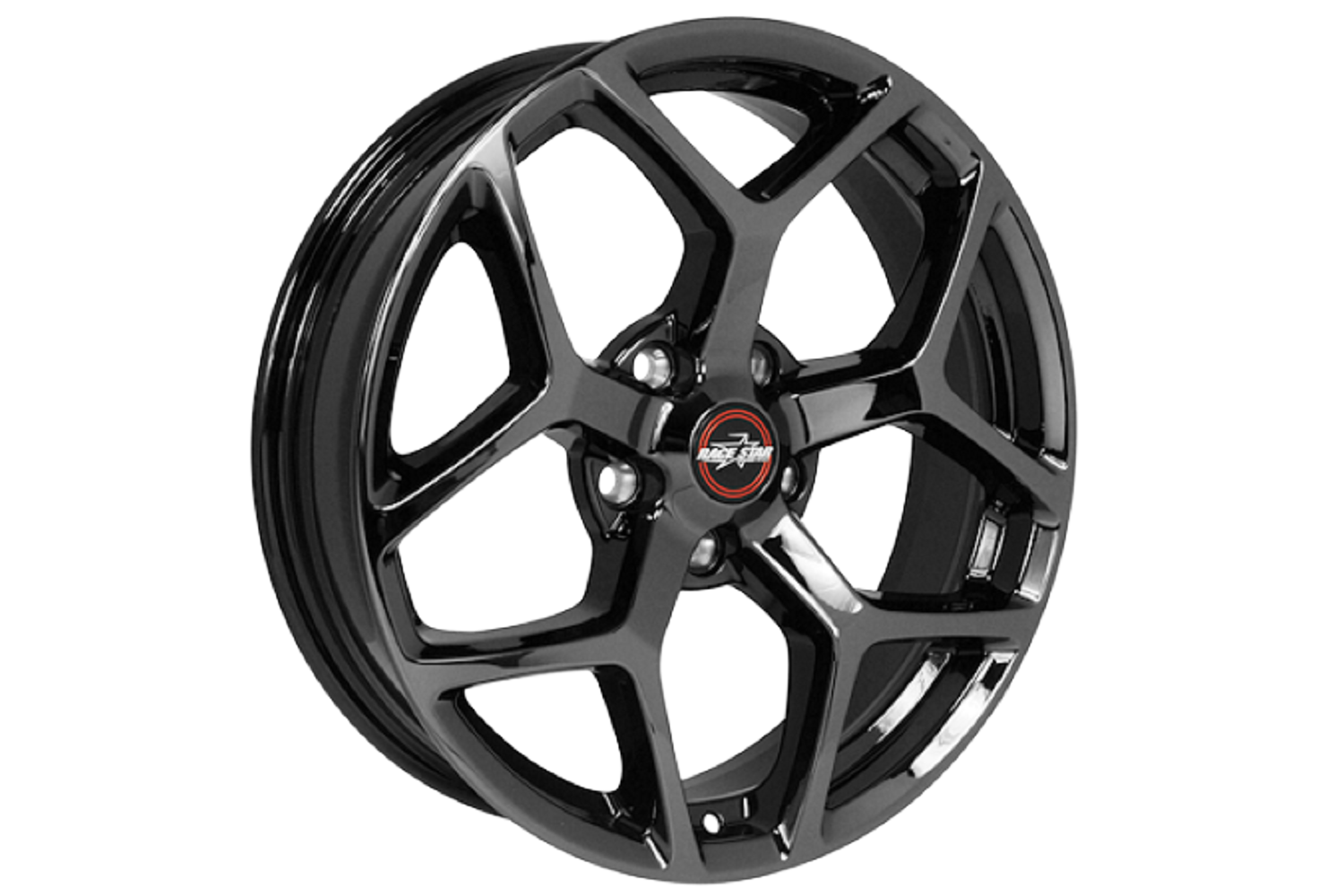 2005 Mustang Wheels >> Race Star S197 S550 Mustang 18x8 5 95 Recluse Black Chrome Wheel 2005 2019