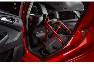 Harness Bars; Chassis; Steeda Autosports carries harness bars for your 2013-2017 Focus ST. These will allow to use safety harnesses without the need for a custom roll cage and will allow you to mount the harnesses at the correct angle.