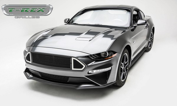 T-Rex Grilles Mustang DJ Series Main Grille insert Black with Stainless Accent Trim (2018-2020)