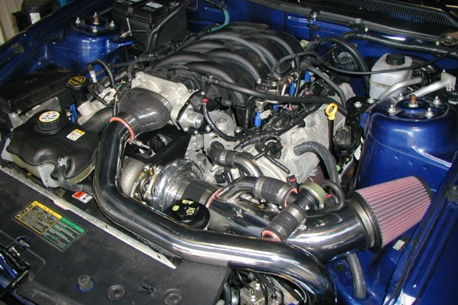 Hellion power systems mustang gt single turbo system 05 10