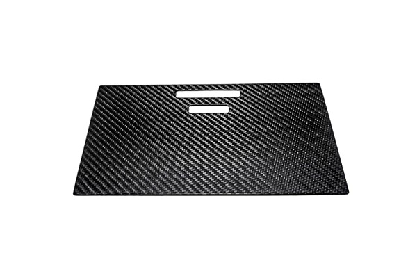 California Pony Cars F-Series Carbon Fiber Front Console Sliding Cubby Door Cover (2015-2019)
