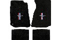Lloyd Mats Mustang Black Floor Mats w/ Tri-Bar Pony Logo (94-04 Coupe/99-04 Convertible)