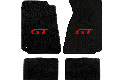 Lloyd Mats Mustang Black Floor Mats w/ Red GT Logo (94-00 Coupe/99-00 Convertible)