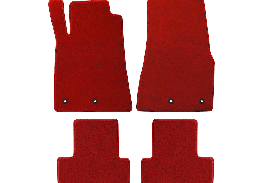 Lloyd Mats Mustang Red Floor Mats - Front and Rear (13-14 All)