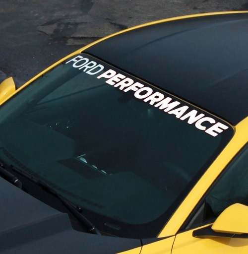 Ford Performance Mustang Windshield Banner (2005-2020)