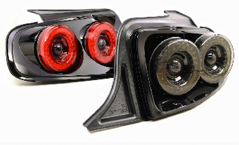 Morimoto S197 Mustang XB Dual Halo LED Tail Lights - Red (2013-2014)