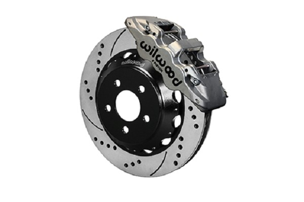 "Wilwood AERO6 S550 Mustang Street Front Big Brake Kit - 14"" Drilled and Slotted Rotors Nickel 6 Piston Calipers (2015-2019 ALL)"