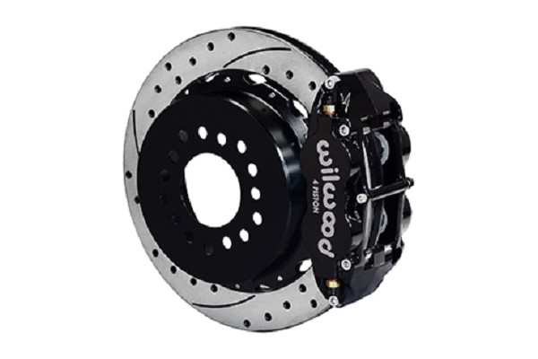 Wilwood Mustang Superlite 4R Rear Brake Kit Drilled & Slotted Rotors - Black (2005-2014)