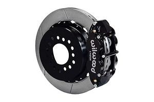 Wilwood Mustang Superlite 4R Rear Brake Kit  Slotted Rotors - Black (2005-2014)
