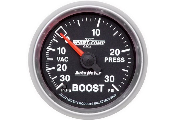 Autometer Sport Comp II Mechanical Boost/Vacuum Gauge