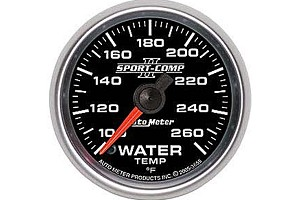 Autometer Sport Comp II Electric Water Temperature Gauge