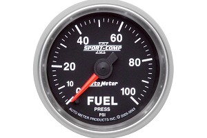 Autometer Sport Comp II Electric Fuel Pressure Gauge