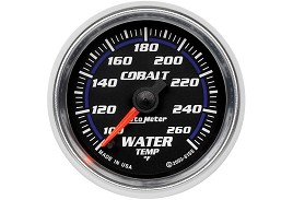Autometer Cobalt Electric Water Temperature Gauge
