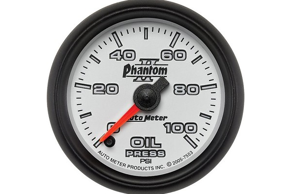 Autometer Phantom II Electric Oil Pressure Gauge