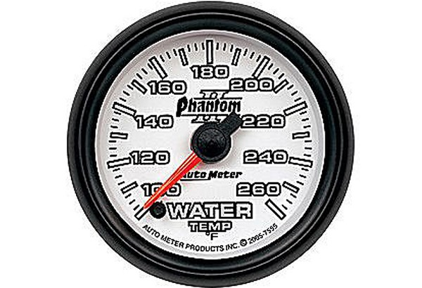 Autometer Phantom II Electric Water Temperature Gauge