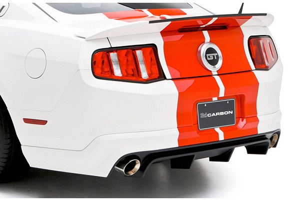 3D Carbon Mustang Rear Lower Diffuser Skirt (10-12)