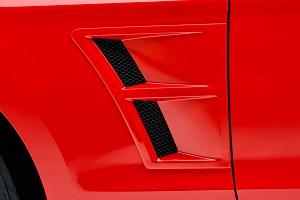 3D Carbon Mustang Fender Vents (10-14)