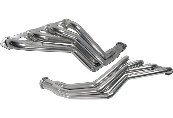BBK Silver Ceramic Long Tube Mustang Headers 1-5/8 in. (79-93 5.0L Automatic)