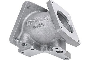 Edelbrock 70mm SN95 Mustang Throttle Body Intake Elbow - Satin (1994-1995)