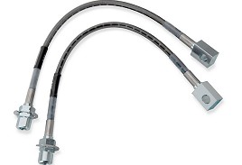 Russell Mustang Stainless Braided Brake Lines - Front (94-98 GT/V6)