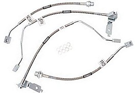 Russell Mustang Stainless Braided Brake Lines - Front/Rear (96-98 GT)