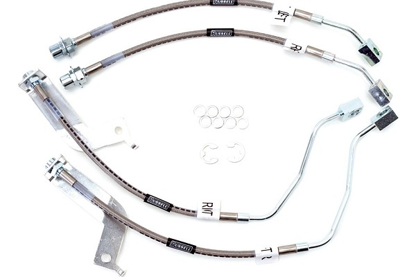 Russell Mustang Stainless Steel Braided Brake Lines Front & Rear Hose Set (99-04 GT & V6, 03-04 Mach 1)