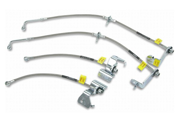Russell Focus Braided Steel Brake Lines w/ Drum Brakes (00-07)