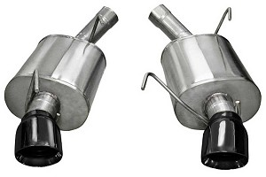 "Corsa Mustang 2.5"" Xtreme Axle-Back Exhaust Dual Rear Exit 4"" Black Pro-Tips (05-10 GT/GT500)"