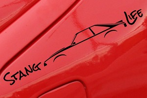 Stang Life Decal - Black (79-93 All)