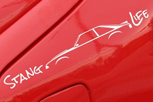 Stang Life Decal - White (79-93 All)
