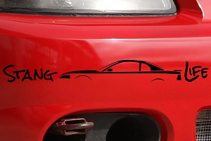 Stang Life Decal - Black (99-04 All)