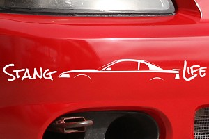 Stang Life Decal - White (99-04 All)
