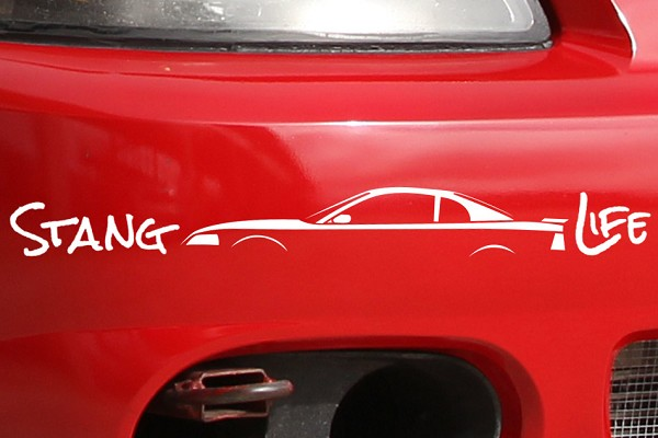 Stang Life Decal - White (1999-2004)