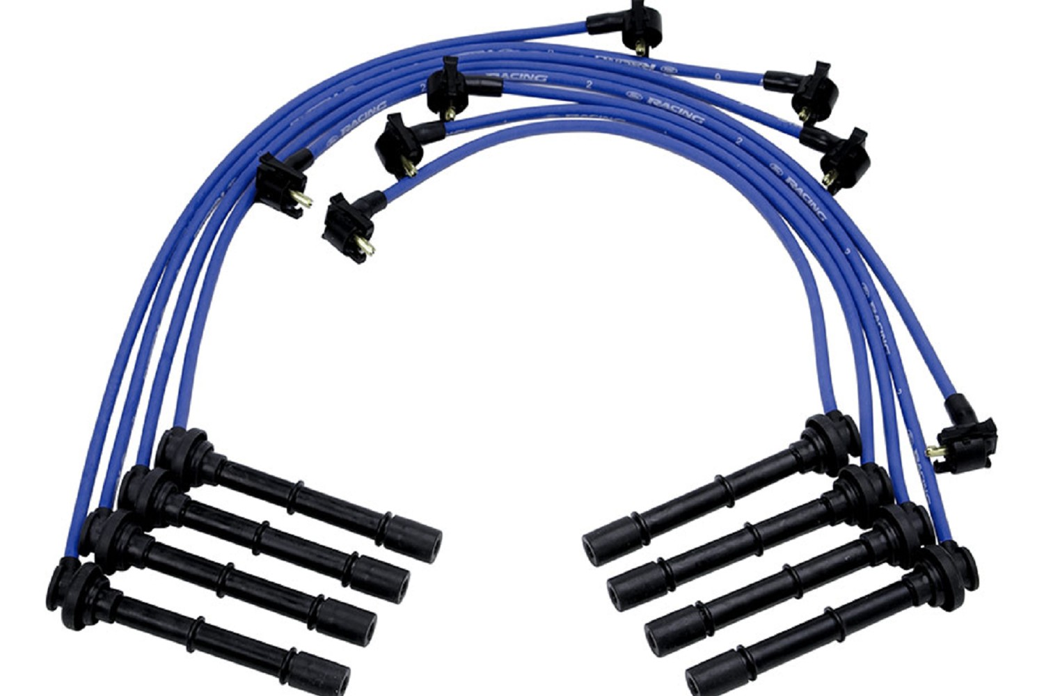 Ford Performance 9 mm Mustang Spark Plug Wires - 96-98 Cobra, 161 M ...