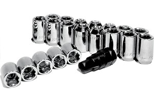 Gorilla Chrome Mustang Locking Lug Nuts