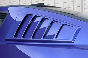 Classic Design Concepts Mustang Quarter Window Louvers - Unpainted (05-14)