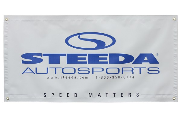 "Steeda 'Speed Matters' Banner (72"" x 36"")"